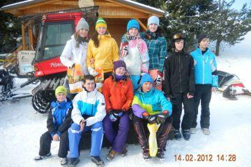 Lyž. závod škol 14.2.2012