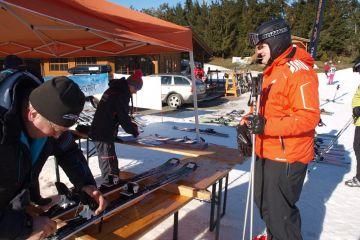 Testování lyží Blizzard