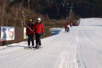 Senioři využili skvělých podmínek k lyžování